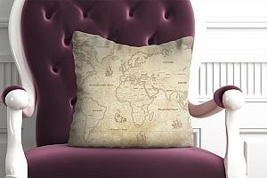 3D Подушка «Карта мира в винтажном стиле» вид 4