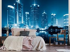 3D фотообои 3D Фотообои  «Неоновые огни ночного города»  вид 3