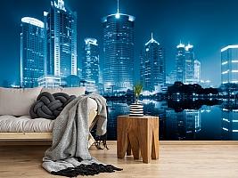 3D Фотообои  «Неоновые огни ночного города»  вид 5