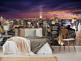 3D Фотообои  «Ночной Манхэттен»  вид 6