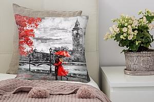 3D Подушка «Романтичный осенний Лондон»