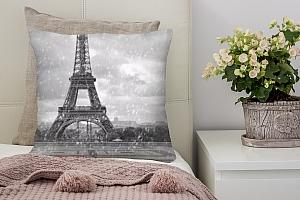 3D Подушка «Эйфелева башня под дождем»