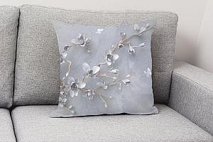 3D Подушка «Бабочки над цветущей веткой» вид 4
