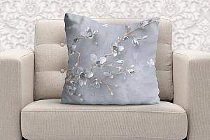 3D Подушка «Бабочки над цветущей веткой» вид 5