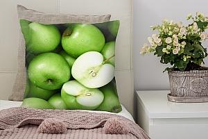 3D Подушка «Композиция с зелеными яблоками»