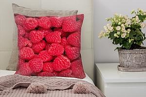 3D Подушка «Малиновая композиция»