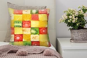 3D Подушка «Сочные фруктовые кубики»