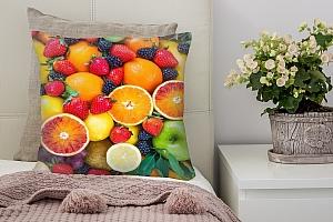3D Подушка «Цитрусы с ягодами»
