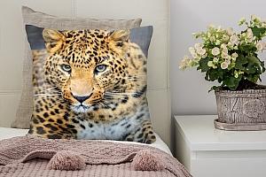 3D Подушка «Красивый леопард»
