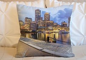 3D Подушка «Городская набережная»