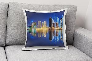 3D Подушка «Синева ночного города»