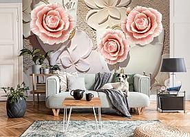 3D Фотообои  «Объемная композиция с бутонами роз»  вид 8
