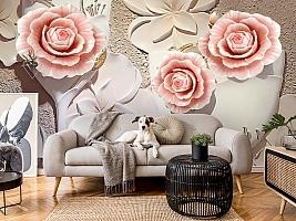 3D Фотообои  «Объемная композиция с бутонами роз»  вид 5
