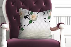 3D Подушка «Белые розы над водой»