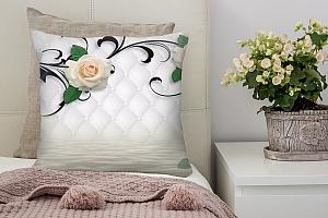 3D Подушка «Белые розы над водой» вид 6