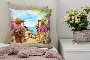 3D Подушка «Цветущая улица»