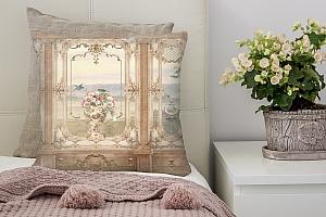 3D Подушка «Стена в античном стиле»