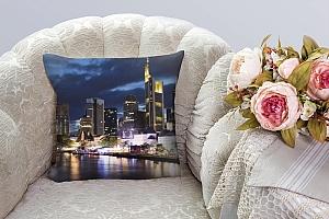 3D Подушка «Городские огни» вид 3