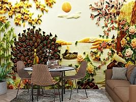3D Фотообои  «Декорация в японском стиле из нефрита»  вид 3