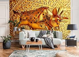 3D Фотообои  «Декорация с золотым быком в испанском стиле»  вид 8