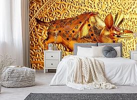 3D Фотообои  «Декорация с золотым быком в испанском стиле»  вид 6