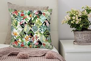 3D Подушка «Ромбовидная тропическая композиция»