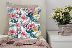 3D Подушка «Тропические цветы» вид 2