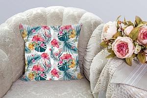 3D Подушка «Тропические цветы» вид 3
