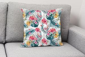 3D Подушка «Тропические цветы» вид 4