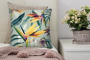 3D Подушка «Тропический мотив»