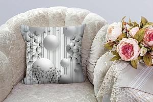 3D Подушка «Абстракция с одуванчиками» вид 3