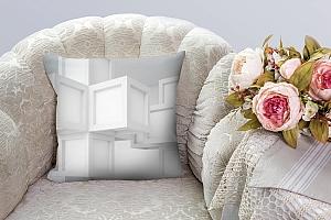 3D Подушка «Кубическая абстракция» вид 3