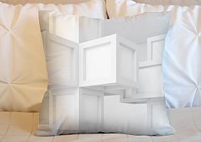 3D Подушка «Кубическая абстракция» вид 4