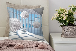 3D Подушка «Фантастическая терраса» вид 2