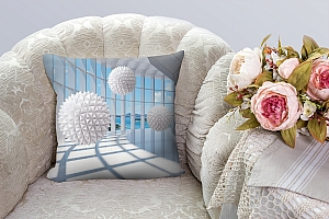 3D Подушка «Фантастическая терраса» вид 3