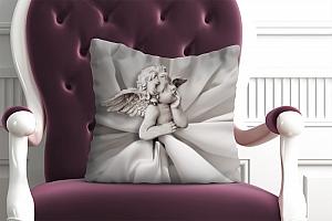 3D Подушка «Задумчивый ангелочек»