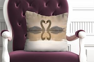3D Подушка «Влюбленные лебеди» вид 5
