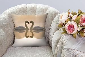 3D Подушка «Влюбленные лебеди» вид 8