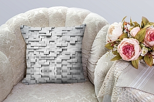 3D Подушка «Объемные блоки» вид 3