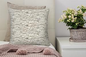 3D Подушка «Светлый декоративный камень» вид 2