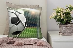3D Подушка «Футбольный мяч в сетке»