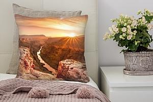 3D Подушка «Закат над каньоном»