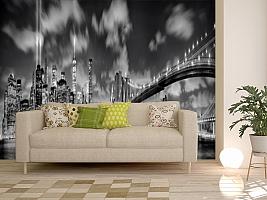 3D Фотообои  «Черно-белая инсталляция с небоскребами»  вид 11