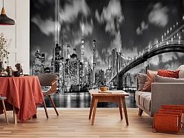 3D Фотообои  «Черно-белая инсталляция с небоскребами»  вид 10