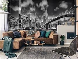 3D Фотообои  «Черно-белая инсталляция с небоскребами»  вид 7