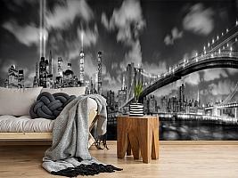 3D Фотообои  «Черно-белая инсталляция с небоскребами»  вид 5
