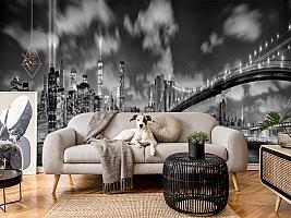 3D Фотообои  «Черно-белая инсталляция с небоскребами»  вид 4