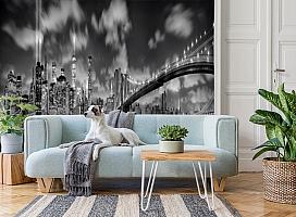3D Фотообои  «Черно-белая инсталляция с небоскребами»  вид 2
