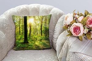 3D Подушка «Лесная панорама» вид 3