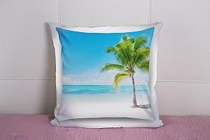 3D Подушка «Одинокая пальма» вид 9